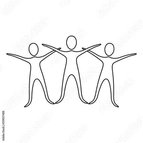 Figure people raise their hands vector illustraction design image quot - Figure libre architecture ...