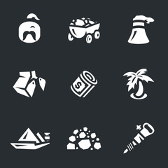 Vector Set of Coal Icons.