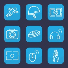 Set of 9 outline professional icons