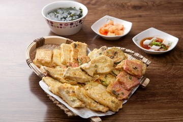 korean pancake mix plate