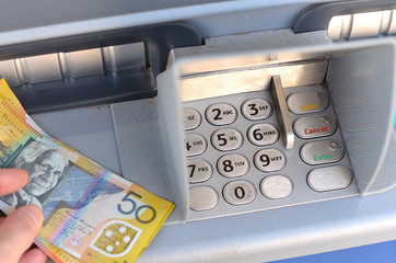 Withdrawing Australian money from an ATM