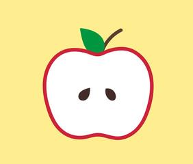 cute apple slice