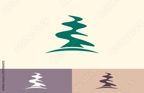 quottree abstract pine logoquot fichier vectoriel libre de