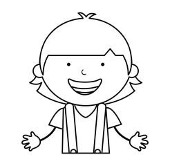 australian little boy character vector illustration design