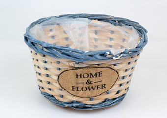 Flower pot in the form of baskets