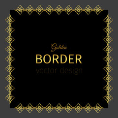 Golden border in square shape