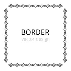 Square black scythian border