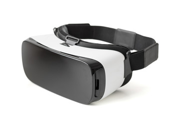 Virtual reality glasseds on white background
