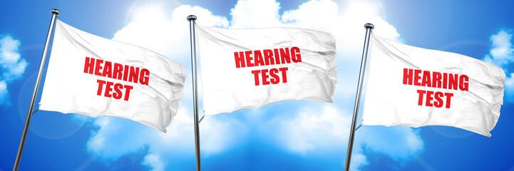 hearing test, 3D rendering, triple flags