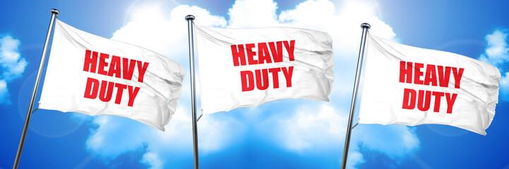 heavy duty, 3D rendering, triple flags