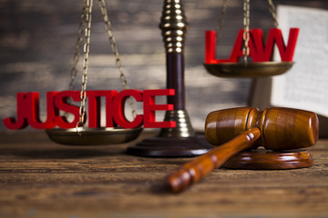 Justice concept, Court gavel,Law theme, mallet of judge