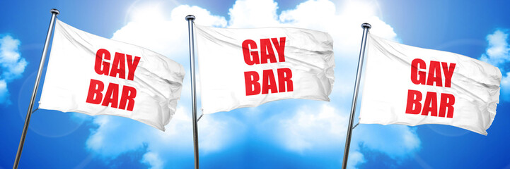 gay bar, 3D rendering, triple flags