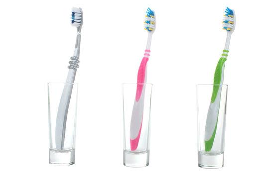 Three toothbrush