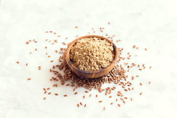 Crushed flax seeds