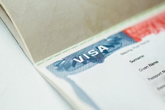American visa in passport blanked out