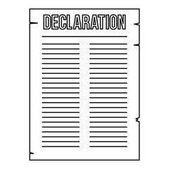 Declaration of independence icon, outline style