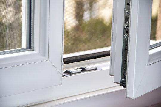 Secure anti-theft burglars-proof window locking mechanism – strong modern PVC metal window