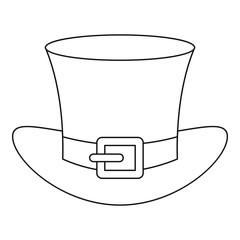Leprechaun hat icon , outline style