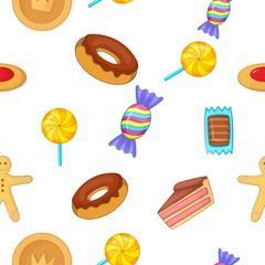 Sweets pattern, cartoon style