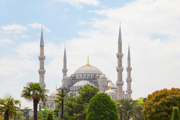 Sultan Ahmed Mosque (Blue mosque) in Istanbul , Turkey