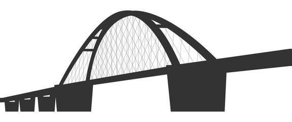 Die Fehmarnsundbrücke (in Dunkelgrau)