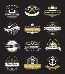 Hotel Stores And Cafe Vintage Logos