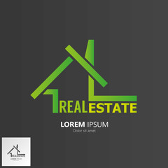 House symbol. Real Estate Logo