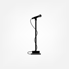 Sound recording equipment - black silhouette microphone.