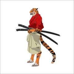tiger samurai warrior