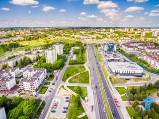 Lublin z lotu ptaka. Dzielnica Czuby zdjęcie z drona.