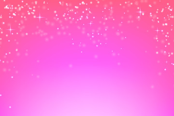 Abstract pink background with glowing particles. Vector background of falling snow. Stock vector illustration