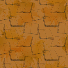 Seamless pattern with books.