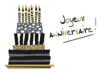 Carte d'anniversaire - carton d'invitation - réussite - succès - fête