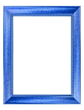 cadre bleu rectangulaire, fond blanc