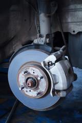 Brake disc and a wheel hub