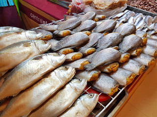 dried fish sold in supermarket