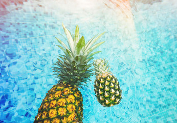Swimming pineapple abstract wallpaper Full Hd.