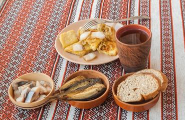 Dish Lithuanian, Polish, Belarusian cuisine rhombuses potato