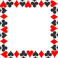Frame suit. Card suit icon vector, playing cards symbols vector