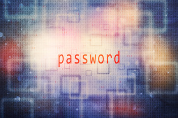 Conceptual password binary numbers code illustration background.