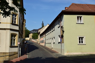 View in the historical town of Bamberg, Bavaria, region Upper Franconia, Germany
