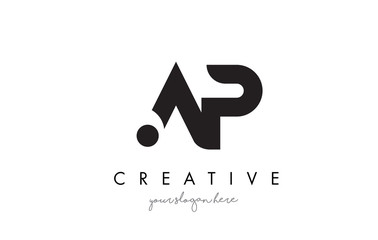 AP Letter Logo Design with Creative Modern Trendy Typography.