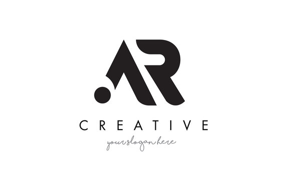 AR Letter Logo Design with Creative Modern Trendy Typography.