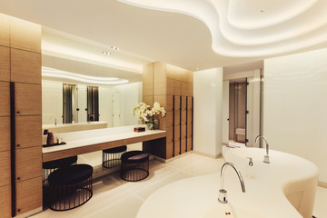 Shared shower interior