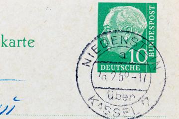 Briefmarke gestempelt
