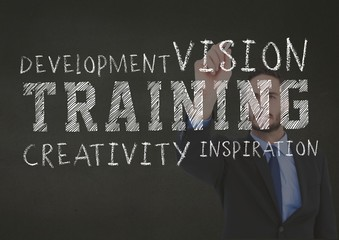 Conceptual image of business training concept