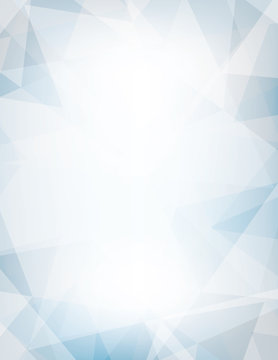 Light blue and gray background textured by chaotic triangles