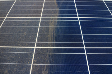 Partially Clean Photovoltaic Panels