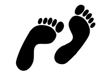 Schwarze Fußspuren