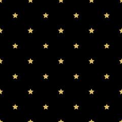 SEAMLESS GOLD STAR GLITTER PATTERN ON BLACK BACKGROUND